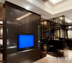 玻璃电视墙图片