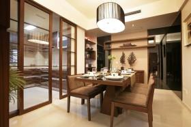 中式风格餐厅实木餐桌图片欣赏