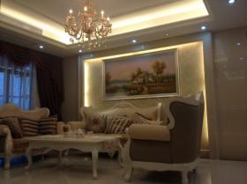 欧式风格客厅装饰画效果图大全