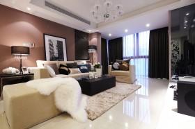 现代风格80平米两室一厅装修效果图
