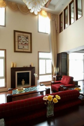 别墅客厅室内装饰画图片
