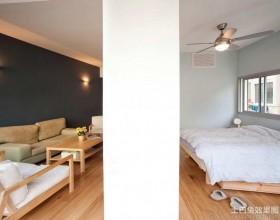 日式简约客厅卧室隔断效果图