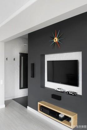 简约时尚电视背景墙装修效果图
