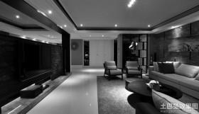 现代黑白装修客厅效果图