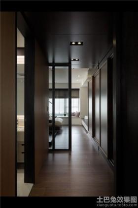 简约风格过道三室两厅效果图