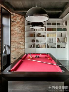 现代简约家庭台球室效果图