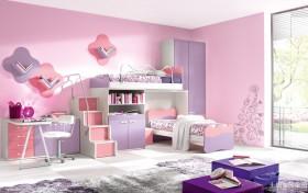 二居家庭儿童房间布置效果图