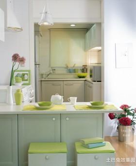 混搭小厨房装饰效果图片