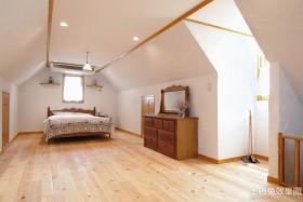 现代阁楼卧室设计效果图