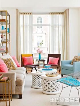 时尚混搭客厅家具图片