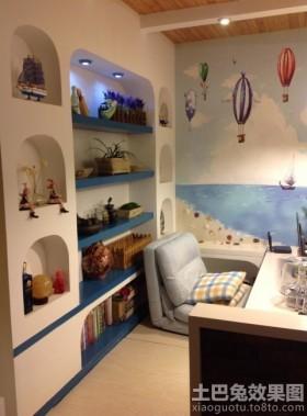 地中海风格儿童房储物柜效果图