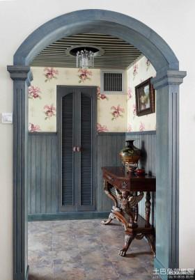 地中海风格进客厅玄关效果图