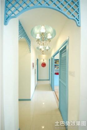 地中海风格家庭玄关灯装修效果图