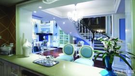 地中海楼梯两室两厅装修效果图