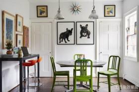 混搭风格餐厅墙画装饰图片