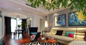 创意客厅两室一厅装修效果图