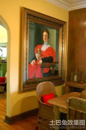 混搭哥特风餐厅墙挂画欣赏