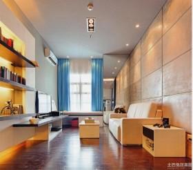 现代简约小公寓装修效果图