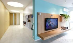 极简主义电视背景墙设计效果图