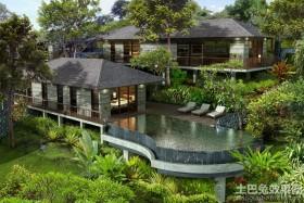 别墅庭院景观效果图片欣赏