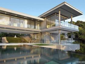 现代别墅庭院景观效果图