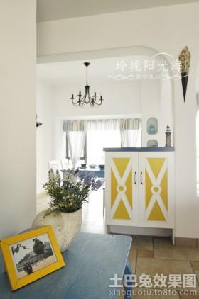 地中海风格进门玄关装饰效果图