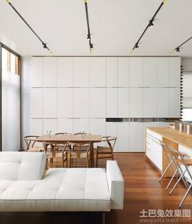 极简主义餐厅壁柜装修效果图