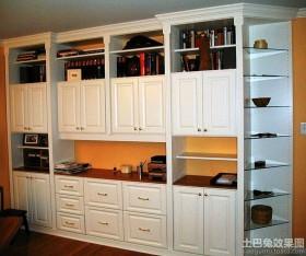 欧式书房壁柜装修效果图