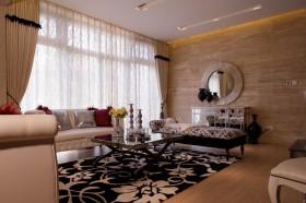 新古典风格客厅地毯图片