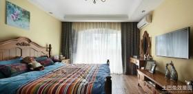 地中海风格卧室电视背景墙装修效果图片