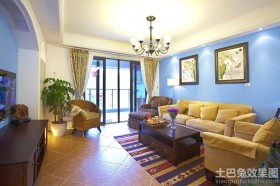 混搭地中海风格两室两厅装修图