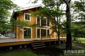 二层木别墅效果图