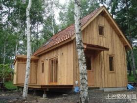 中国农村木别墅图片
