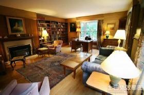 混搭风格客厅兼书房设计