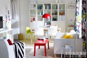小客厅兼书房效果图