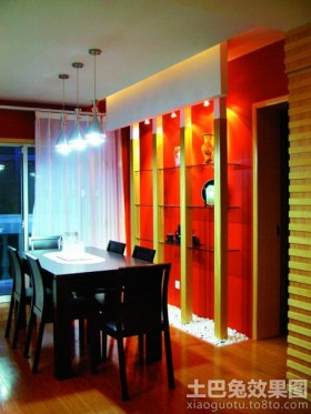 混搭风格餐厅led灯具装修