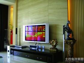 混搭风格小户型客厅电视背景墙
