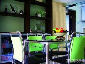 混搭风格餐厅置物架装饰效果图
