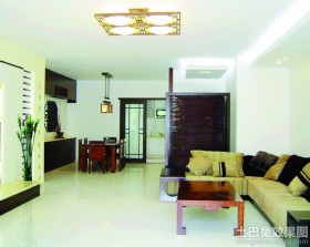 新中式120平米三居室客厅装修效果图