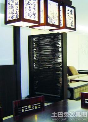 中式屏风室内隔断图片