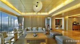 40平现代中式客厅装修效果图