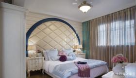 新古典风格两室一厅卧室装修效果图