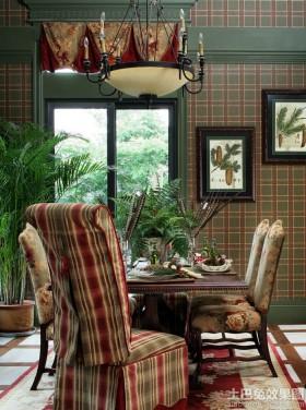 美式乡村风格两室一厅餐厅装修效果图