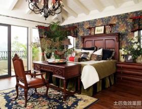美式乡村卧室装修设计图片大全