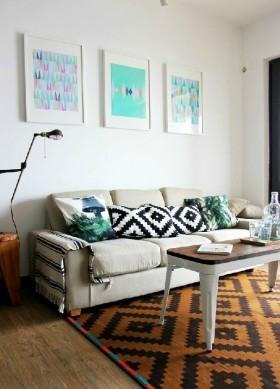 现代创意两室一厅装修效果图