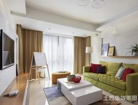 时尚摩登风格两室一厅客厅装修效果图