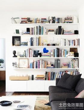 现代创意风格两室一厅书架装修
