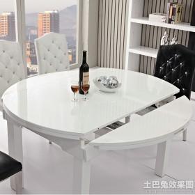 白色简约折叠餐桌图片大全