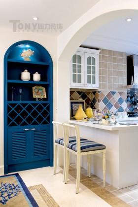 地中海风格厨房吧台装修效果图片