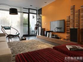 北欧风格90平客厅电视背景墙装修效果图